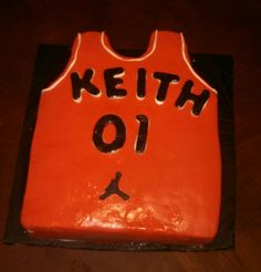 Happy 1st birthday Keith!! Future basketball player cake!!