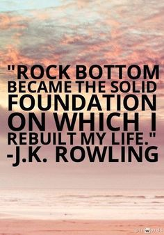 hitting rock bottom can be a blessing