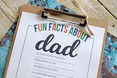 Father's Day Printable : Fun Facts About Dad