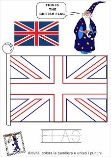 """Before starting the didactic path, we choose a space inside the section to set up """"the English English Time, English Fun, English Class, English Grammar, Learn English, English Language, English Teaching Resources, English Activities, Union Jack Decor"""