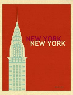 New York City Print, New York City Skyline Poster, NYC Wall Art, Chrysler Building Print, New York City Loose Petals City style E8-O-NY4