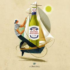 Peroni Illustration by  Riccardo Guasco - found in http://www.fubiz.net/2015/06/29/peroni-illustrations-by-riccardo-guasco/