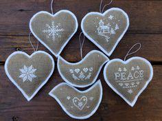 Mini Scandinavian Cross Stitch Ornaments /Christmas by twood59
