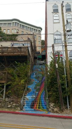 Funky stairs in Eureka