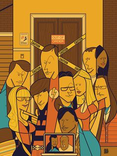 Movie themed illustrations by Ale Giorgini The Big bang theory