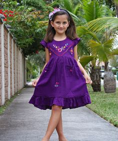 Look at this Purple Leonor Dress - Infant, Toddler & Girls on #zulily today!