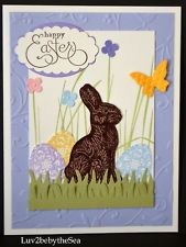 HAPPY EASTER card kit with Stampin Up Chocolate Bunny ~ Sample + 4 (5 total)