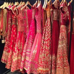 Pink & Red Embroidered #Lehengas.