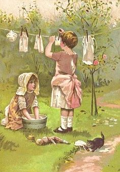 Hanging washing