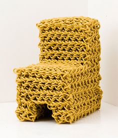 Obsession Chair by Kwangho Lee - Knit Chair from Electricity Wire