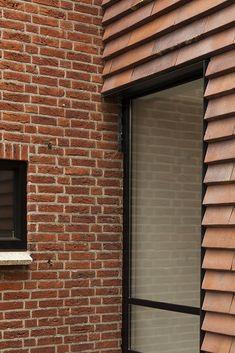 Brick Detail, Black Barn, Rear Extension, Exterior Cladding, Brick Design, Design Your Home, Windows And Doors, Arcade, Building A House
