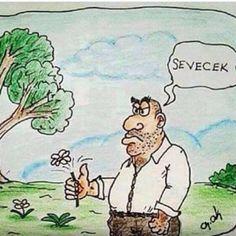 Sevecek. #karikatür #mizah #matrak #komik #espri Comedy Pictures, Funny Pictures, Caricatures, Cartoon Art, Laugh Out Loud, Peanuts Comics, Like4like, Humor, Anime