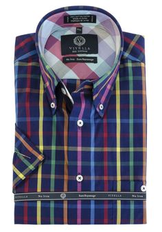 Just added to our collection at The Abbey Button-Down Colla... Check it out here http://theabbeycollection.ca/products/button-down-collar-short-sleeve-no-iron-plaid-sport-shirt-viyella-3?utm_campaign=social_autopilot&utm_source=pin&utm_medium=pin