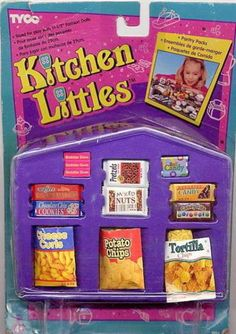 Kitchen Littles Chips & Crackers (Pantry Packs, small set)* Barbie Van, Barbie Doll Set, Barbie Food, Barbie Doll House, Doll Food, Barbie Family, Barbie Doll Accessories, Barbie Princess, Cute Clay