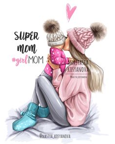Baby Drawing Illustration Art New Ideas Mother Daughter Art, Mother Art, Mom Son, Daughter Quotes, Best Friend Drawings, Girly Drawings, Baby Girl Drawing, Mom Drawing, Disney Collection