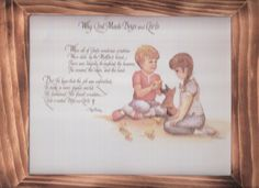 Why God made little boys and girls  w/ free shipping in the continental USA by OldTimeCountryCrafts, $9.50