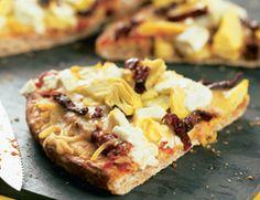 Sun-Dried Tomato, Goat Cheese, and Artichoke Pizza