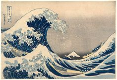 Great Wave of Kanagawa Katsushika Hokusai Poster Art Print: PDecorate your home or office with high quality posters. The Great Wave at Kanagawa , Poster Print by Katsushika Hokusai, is that perfect piece that matches your style, interests, and budget. Japanese Art, Japanese Artists, Kanagawa, Japanese Wave Painting, Japanese Woodblock Printing, Artwork, Sea Pictures, Art History, Katsushika Hokusai