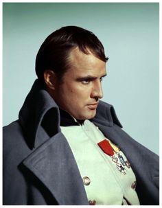 "Marlon Brando as Napoleon Bonaparte in the movie ""Desiree"", Marlon Brando, Jean Simmons, Vivien Leigh, Steve Mcqueen, Cinema Film, Film Movie, Rachel Mcadams, Christina Hendricks, Britney Spears"