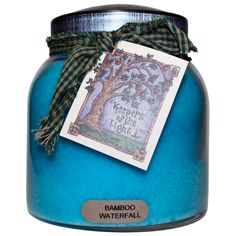 Bamboo Waterfall Keeper's of the Light Jar Candle, Papa 34 oz, 2 wicks. Exotic blend of woods and citrus, sage, sandalwood, white musk and driftwood teak . The scent is light and pleasurable, not overbearing. Super-scented from beginning to end of the jar. #SimplyAbundant #Candle #CheerfulGiver #Keepersofthelight