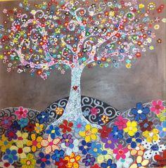 """""""Siete millones de flores y un corazón"""" Árbol www.Cuadritosdecolores.bigcartel.com"""