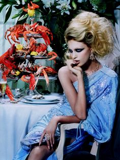 Anja Rubik by Miles Aldridge for Vogue Italia
