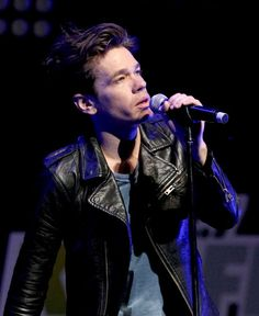 Nate Ruess - leather jacket