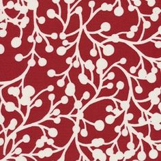 Blossom Vine - Red Indoor/Outdoor Fabric