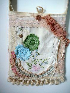 Gypsy Purse Shabby Chic Purse Handmade by ScarlettsCozyCottage, $60.00