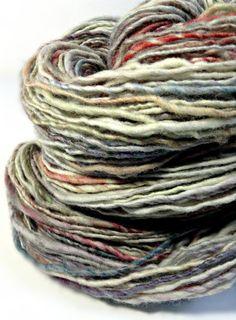 Handspun Merino Yarn, Handspun Wool Yarn - Leah II - Hand Dyed 4 ounces Single Ply Yarn