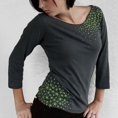 Star Moss Womens Shirt  Boat neck in Gray in Small to by Xenotees, $28.00