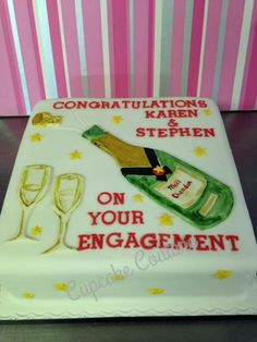Engagement Cakes, Congratulations, Anniversary, Birthday Cake, Desserts, Food, Birthday Cakes, Meal, Deserts