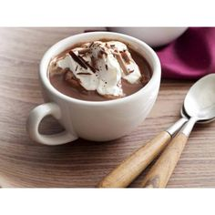 Peppermint Hot Chocolate (33 CAD) ❤ liked on Polyvore featuring food, backgrounds, pictures, photos and pics