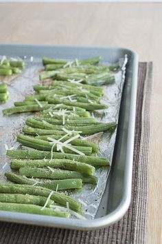 Roasted Parmesan Green Beans. You'll never need another vegetable side dish recipe again!