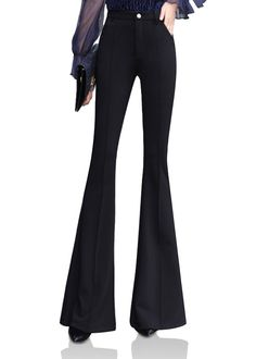 1ab9e8ca7f935 Smibra Womens Fashion Slim Fit High Waist Butt Lifting Bell Bottom Flare  Long Pants     Click on the image for additional details.