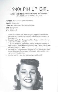 how to be a 1940's pin up girl (or look like one at least)