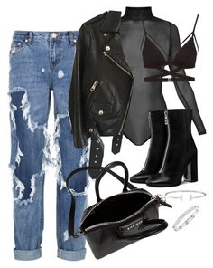 """""""Sans titre #3130"""" by christina95styles ❤ liked on Polyvore featuring OneTeaspoon, Acne Studios, Givenchy and Cosabella"""