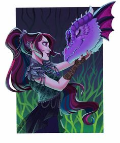 Cool Art Drawings, Kawaii Drawings, Ever After High Rebels, Manga Hair, Monster High Art, Fanart, Raven Queen, My Little Pony Pictures, Gothic Anime