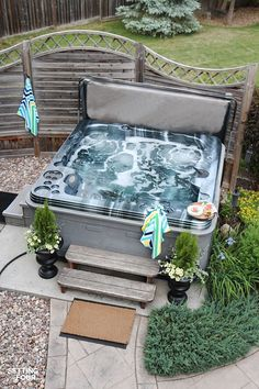 Giving extra privacy to your outdoor area like a hot tub is a must. To help you choose the one that suits your taste, check out this hot tub privacy! Hot Tub Gazebo, Hot Tub Deck, Hot Tub Backyard, Hot Tub Garden, Backyard Patio, Backyard Ideas, Patio Ideas, Pool Ideas, Hot Tub Patio On A Budget
