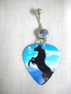 Equine Rearing Stallion HORSE Animal Double Sided by Nails2Die4, $6.99