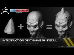 ZBRUSH TUTORIAL -DYNAMESH(PART-1) - YouTube