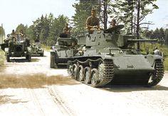 Hungarian Toldi tank column.