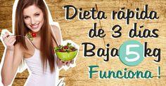 Una dieta rápida y fácil para adelgazar 5 kilos en 3 días, ¿es posible?