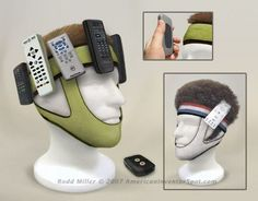 Remote Control Headband: You will never look for the pesky remote again. And also look awesome while watching your favorite shows!