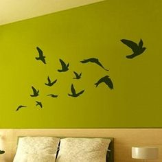 Othermix Pretty Flying Birds Removable Wall Sticker Wall Decal