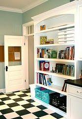 Love the door, floor, shelving... nice.
