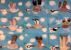 Kuvis a Craft 2 - www. Group Art Projects, Winter Art Projects, School Art Projects, 3rd Grade Art Lesson, Ecole Art, Art Drawings For Kids, Art Lessons Elementary, Autumn Art, Art Lesson Plans