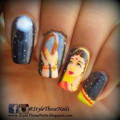 Style Those Nails: Karwachauth Nailart ! Happy Karwachauth Visit my blog for more ! #indian #indiannails #indianfestivalnails #karwachauthnails #stnchallenges #illnailchallenge #indianfestivity