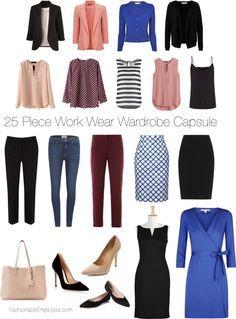 http://FashionablyEmployed.com   25 Piece Wrok Wear Wardrobe Capsule  Simple…