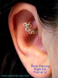 Love Hoop Cartilage Earring for Daith Rook Tragus Snug by wirewrap, $24.00